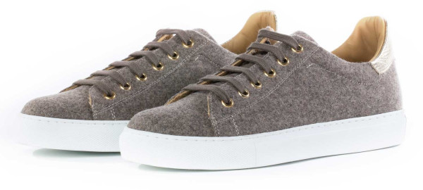 Trachtenschuh Sneaker Monaco Duck Charlie Loden taupe gold