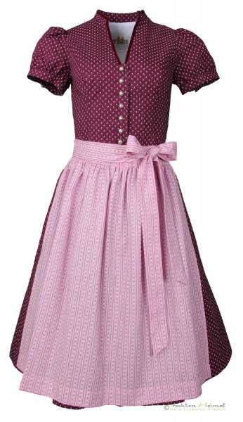 Vintage Dirndl Wenger Ilse beere rosa mit Ärmel 65cm