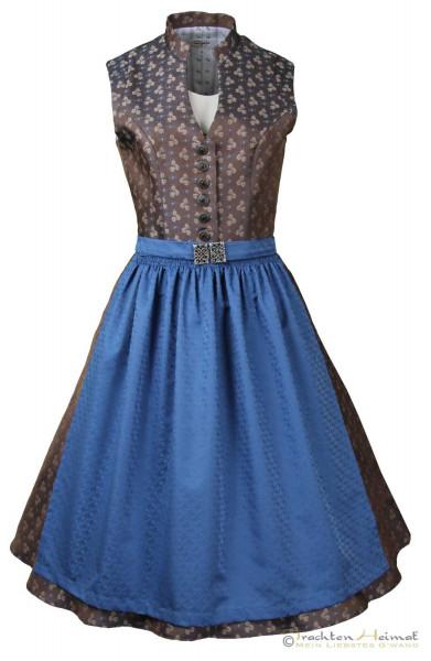 Vintagedirndl Goldstich Jacquard braun blau 65cm