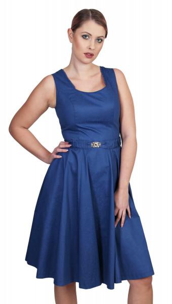 Trachtenkleid Kati dunkelblau mit Gürtel