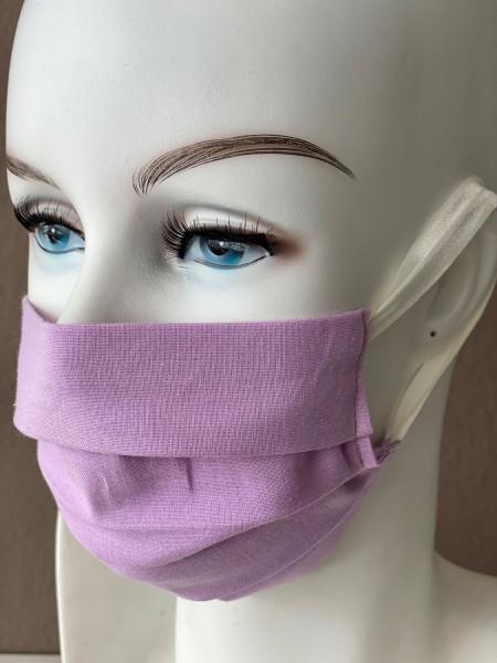 Mundmaske Nasenmaske Baumwolle violett