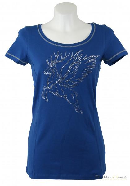 Kaiserjaeger Shirt Strasshirsch blau