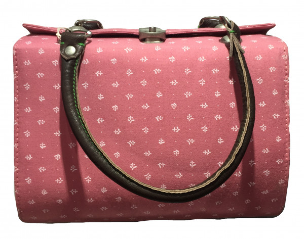 Trachtentasche Dirndltasche Almsach Vintage mit Standfüßchen rose