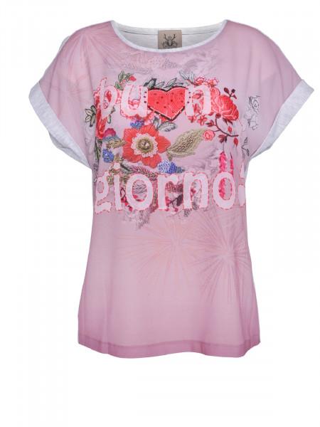 T-Shirt Alpensünde Eva grau rose
