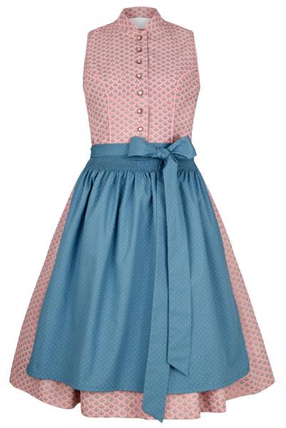 Dirndl Alpenfee Kiki rosa blau 60cm