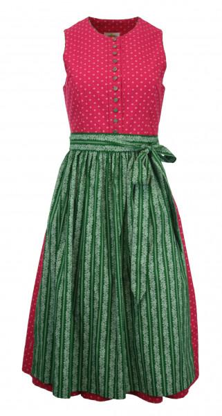 Vintage Baumwolldirndl von Almsach pink grün 70 cm