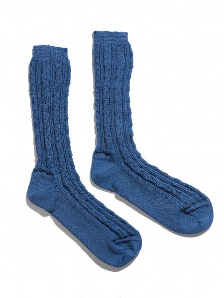 Herren Trachten Shopper Socken Lusana blau