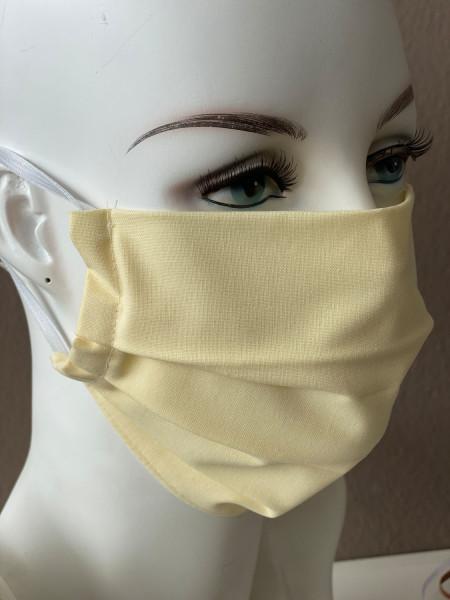 Mundmaske Nasenmaske Baumwolle hellgelb