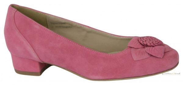 Trachtenschuh Ballerina Hirschkogel mit Blume Leder rosa