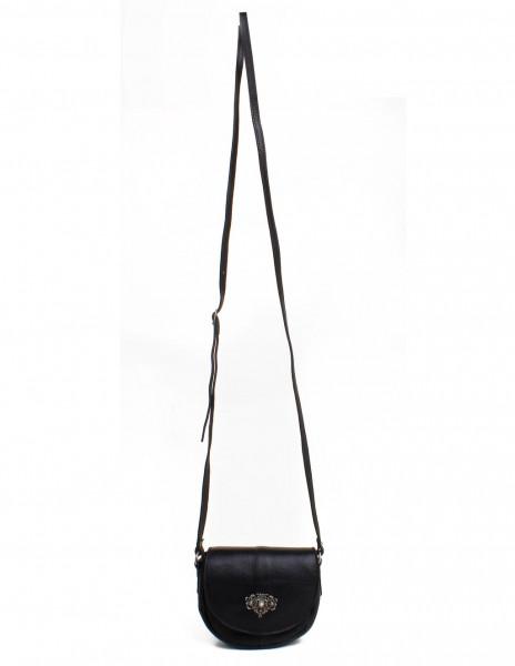 Dirndltasche Trachten Handtasche OWA Büffelleder schwarz