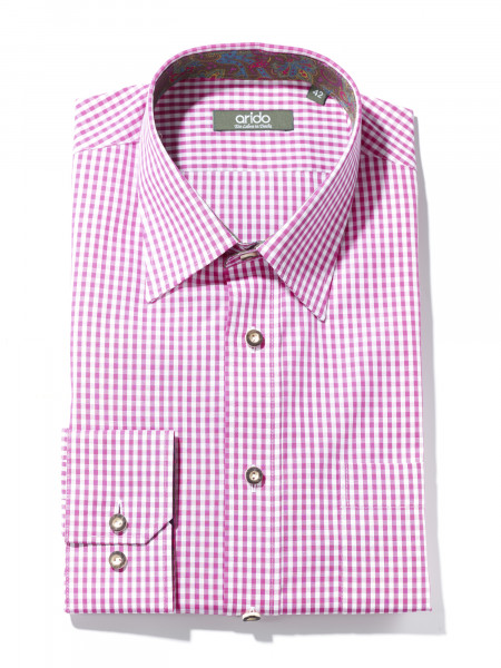 Trachtenhemd Arido fuchsia