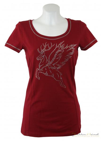 Kaiserjaeger Shirt Strasshirsch rot Detail