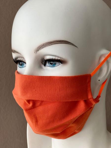 Mundmaske Nasenmaske Baumwolle orange