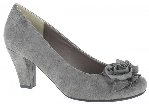 Trachten Dirndlschuh Pumps Andrea Conti taupe