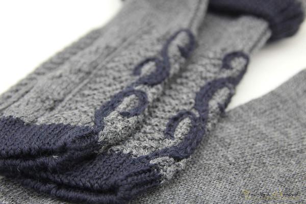 Loferl Socken Set Lusana dunkelgrau marine mit Ranke bestickt
