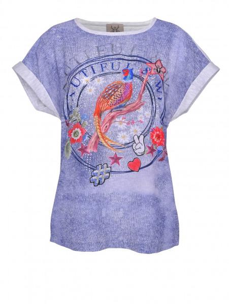 T-Shirt Alpensünde Susa grau blau