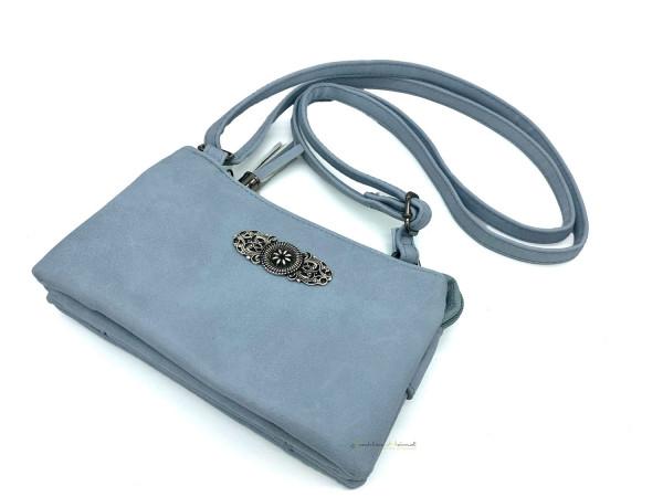 Dirndltasche Trachten Handtasche hellblau Ornament