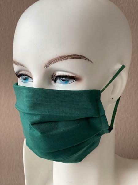 Mundmaske Nasenmaske Baumwolle grün für Damen und Herren