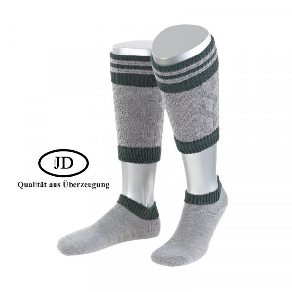 Loaferl Socken Set JD Tracht grau grün
