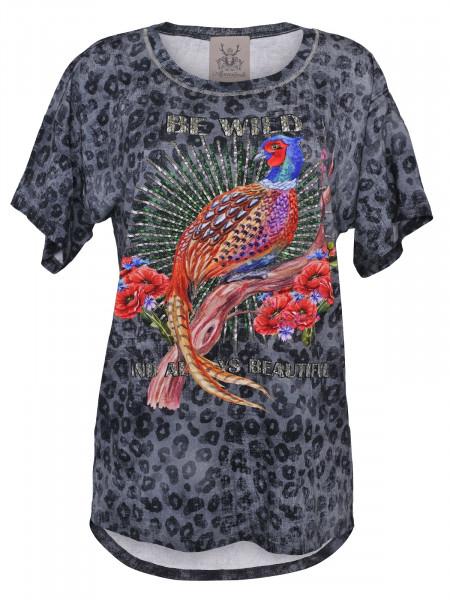 T-Shirt Alpensünde Palina grau Leomuster