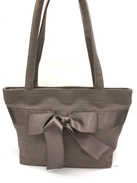 Dirndltasche Trachten Handtasche Luise Steiner mit Schleife grau grau