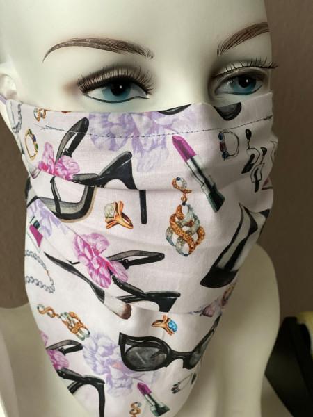 Mundtuch Nasentuch Baumwolle Beauty mit Nasensteg
