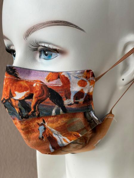 Mundmaske Nasenmaske Pferde mit Nasensteg