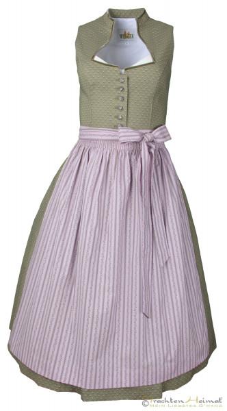 Vintage Dirndl Wenger Iris oliv rosa 70cm