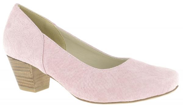 Trachtenschuh Pumps Hirschkogel Leder rosa gemustert