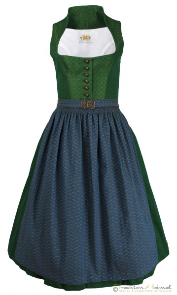 Dirndl Wenger Emilia grün dunkelblau 70cm
