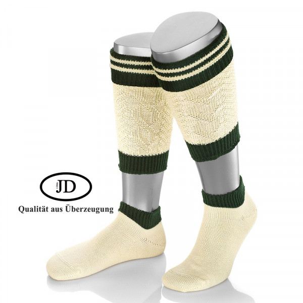 Loaferl Socken Set Lusana natur grün