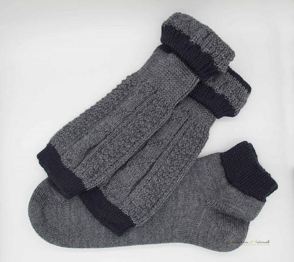 Loaferl Socken Set Lusana dunkelgrau marine