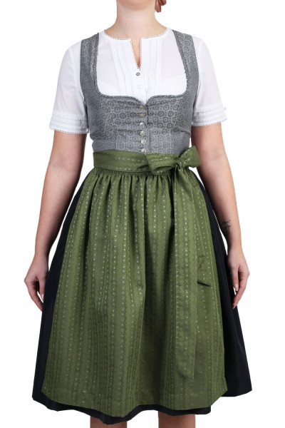 Dirndl Trachtenheimat Marika grau grün 65cm
