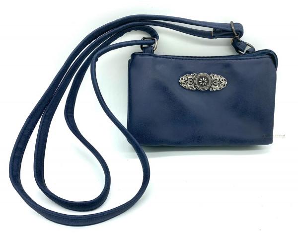 Dirndltasche Trachten Handtasche dunkelblau Ornament