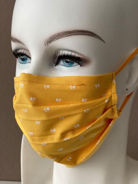 Mundmaske Nasenmaske Baumwolle gelb
