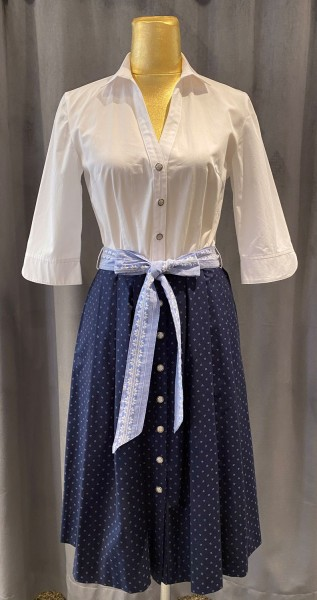 Trachtenkleid Berwin & Wolff weiß dunkelblau